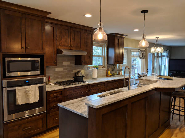 kitchen remodel, contractor, Miller Cabinet Company, flooring installation