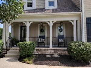 Front porch remodel in Powell, Ohio