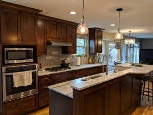 Kitchen renovation and floor installation in Galloway, Ohio.
