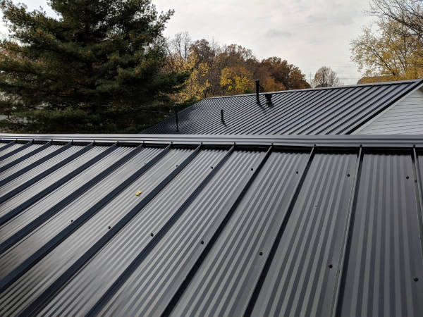 Roofing contractor, InsideOut Remodeling, installed this metal roof in Old Hilliard.