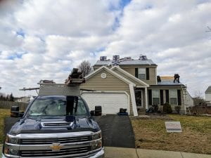 Residential roof installation in Galloway Ohio