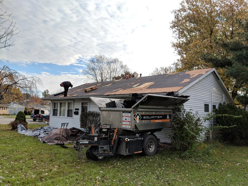 Roof Tear off on Hilliard OH home