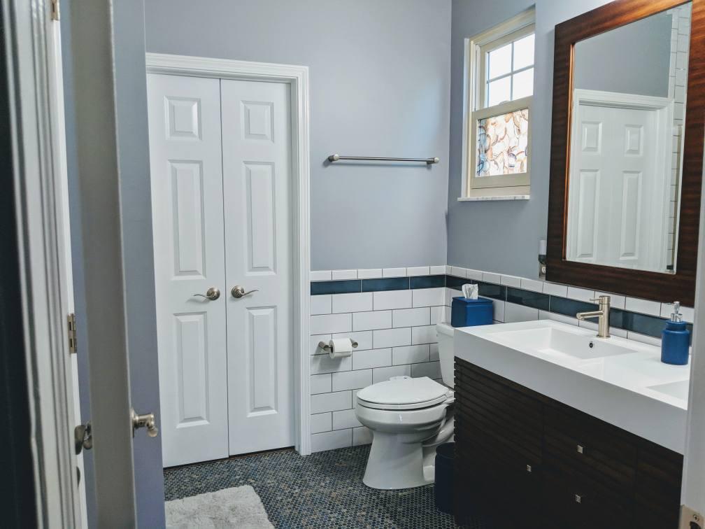 Full view of a bathroom remodel in Hilliard, Ohio.